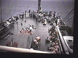 Fantail during cookout on USS Liberty